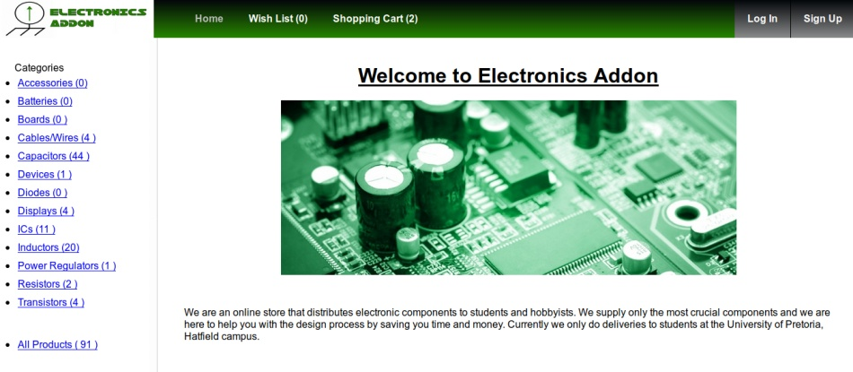 Electronics Addon screenshot